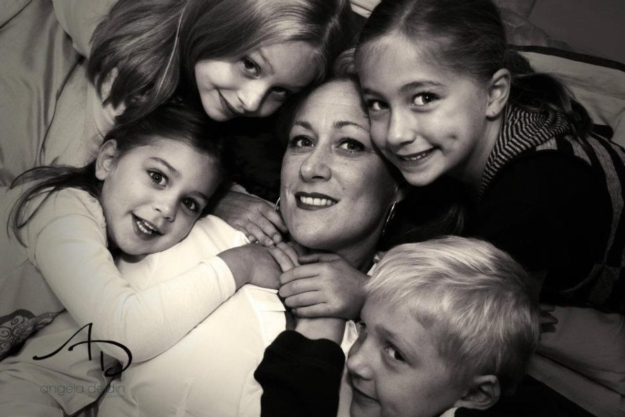 Empowered by the love of her children, a mother enters remission; she now celebrates 10 years cancer-free.